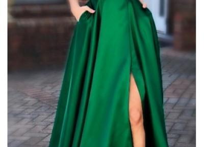Schlichte Abendkleider Lang Grün | Abiballkleider Unter 100_Abendkleider_Kleider für Besondere Anlässe_Brautkleider,Abiballkleider,Abendkleider