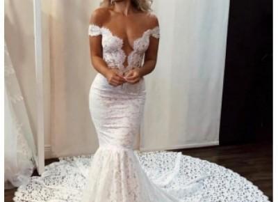 Sexy Brautkleid Meerjungfrau | Hochzeitskleider mit Spitze Online_Brautkleider Meerjungfrau_Brautkleider_Brautkleider,Abiballkleider,Abendkleider