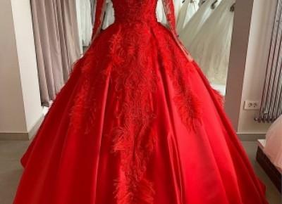 Luxus Abendkleider Mit Ärmel | Rote Abendmoden Abiballkleider Online_Abendkleider_Kleider für Besondere Anlässe_Brautkleider,Abiballkleider,Abendkleider