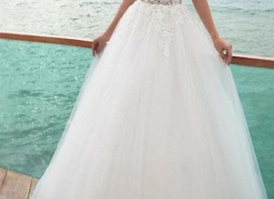 Wunderschone Brautkleider A Linie | Hochzeitskleid mit armel | Babyonlinedress.de