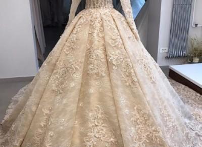 Vintage Hochzeitskleid Mit Spitze | Brautkleid Mit Ärmel Online_Brautkleider Mit Ärmel_Brautkleider_Brautkleider,Abiballkleider,Abendkleider