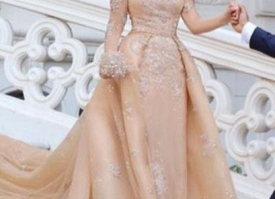 Designer Brautkleider Mit armel | Hochzeitskleider A Linie Online | Babyonlinedress.de