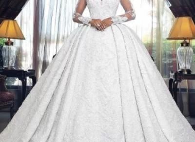 Luxury Brautkleider A Linie Spitze Hochzeitskleider Mit Ärmel_A-Linie Brautkleider_Brautkleider_Brautkleider,Abiballkleider,Abendkleider