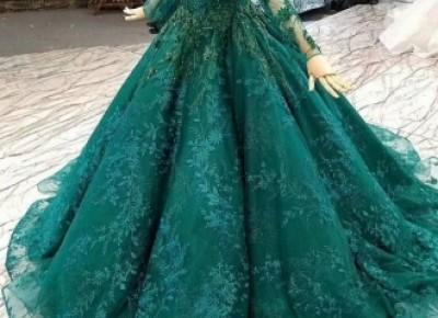 Luxus Abendkleider Mit Ärmel | Grüne Abendmoden Online_Abendkleider_Kleider für Besondere Anlässe_Brautkleider,Abiballkleider,Abendkleider