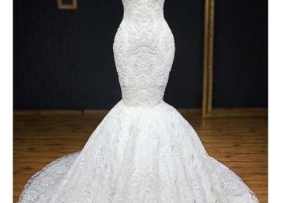 Exklusives Hochzeitskleider Mit Spitze | Brautkleid Meerjungfrau Online_Brautkleider Meerjungfrau_Brautkleider_Brautkleider,Abiballkleider,Abendkleider