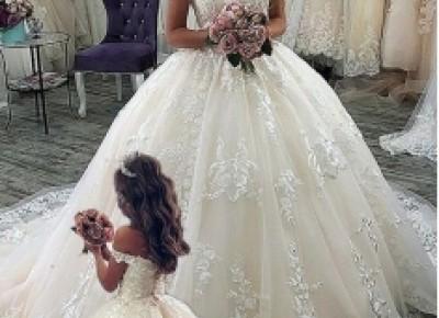Elegante Brautkleider Prinzessin | Spitze Hochzeitkleider Online_Kleider mit Rabatt_Brautkleider_Brautkleider,Abiballkleider,Abendkleider