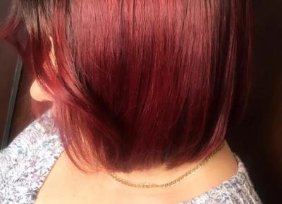 """denis on Instagram: """"Czerwone sombre ❤️ Jak tam lecą wasze ferie , bo u mnie pracowicie 🔥 #hairstyle #hairart #hairred #redcolor #red #myjob #redsombre…"""""""