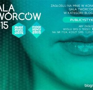 Gala Twórców - Blog Roku 2015!
