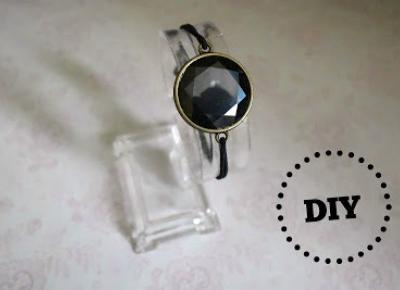Biżuteria z kaboszonów - prosta bransoletka z hematytem
