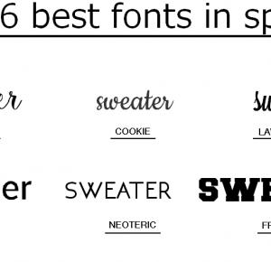 6 najlepszych fontów na lato