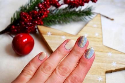 Świętaczne paznokcie - wersja glamour