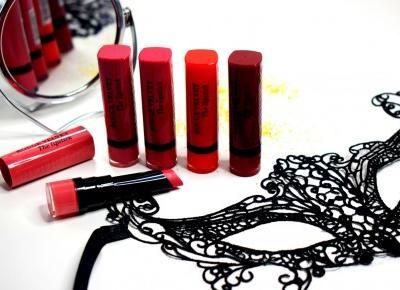 Przegląd 5 pomadek Bourjois Rouge Edition Velvet (swatche)