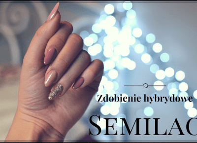 Paznokcie hybrydowe SEMILAC - Brudny Róż i Złoto | Bette Fashion