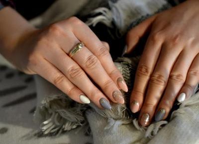 Semilac - zdobienie hybrydowe beże, złoto i szarości | Bette Fashion