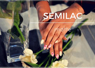 Semilac zdobienie hybrydowe - matowy róż oraz kwiaty | Bette Fashion