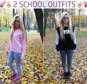 2 SCHOOL OUTFITS : DONUT WORRY