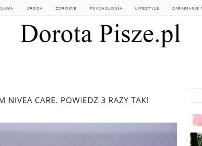 Dorota Pisze.pl: Zrób to sam! Instrukcja jak zrobić pasek stron na bloga. Kod CSS.