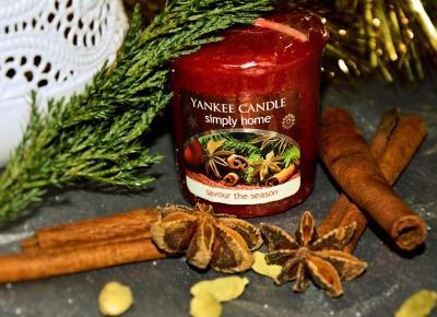 Dorota Pisze.pl: Świąteczny zapach domu. Savour The Season. Yankee Candle. Simply Home.