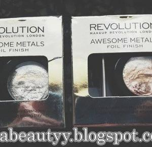 uroda dramatycznie.: RECENZJA: Makeup Revolution - Awesome Metals Foil Finish: Rose Gold i Pure Platinum SWATCHE