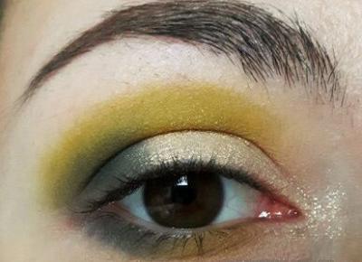 Zielony makijaż oka na co dzień - Wibo + Revolution - Dusty Red Place