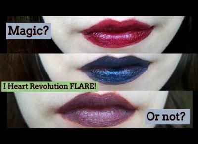 I Heart Revolution Flare Lipsticks | Swatches and Demo | Galaxy Lips