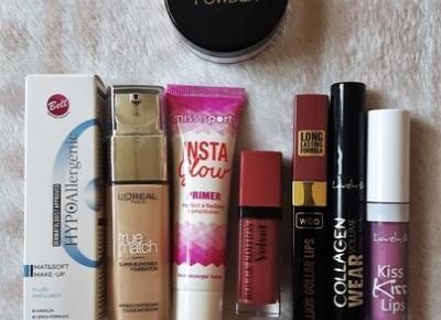 Haul z Rossmanna (-49%, -55%) oraz przegląd moich kosmetyków w różnych kategoriach - Dusty Red Place