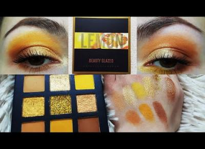 BEAUTY GLAZED LEMON palette (yellow and neutral look)