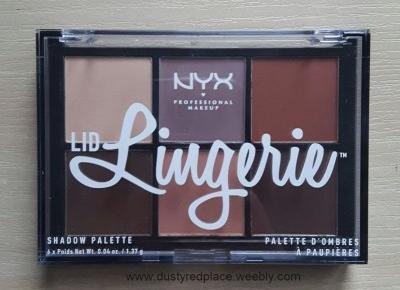 Paletka NYX Lid Lingerie | Recenzja i makijaż - Dusty Red Place