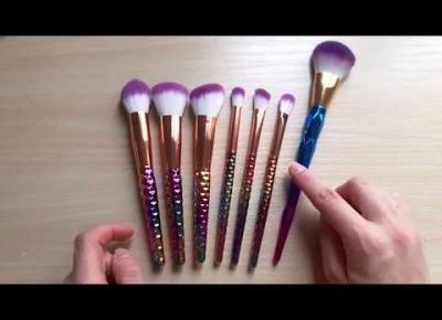 Aliexpress Colorful Crystal Rainbow Unicorn Makeup Brushes