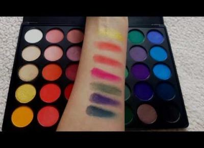 Morphe 35B Swatches + Eye looks!! Colorful Eyeshadow Palette