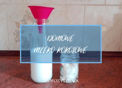 Domowe mleko kokosowe - przepis - ekopozytywna