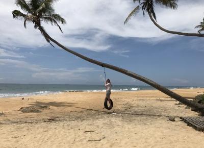 Rajska plaża z huśtawką na Sri Lance - by Ela Bieniecka