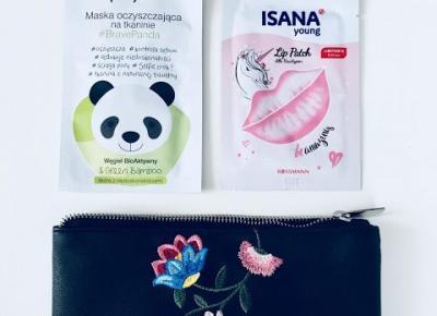 Haul nowości rossmann ISANA young Lip Patch oraz selfie project Maska oczyszczająca na tkaninie #BRAVEPANDA