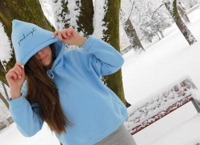 Zaful blue hoodie winter photo