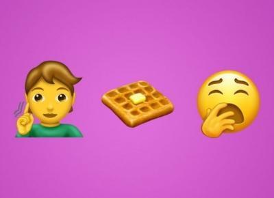Flamingi, gofry z masłem, cebula - nowe emoji na rok 2019!