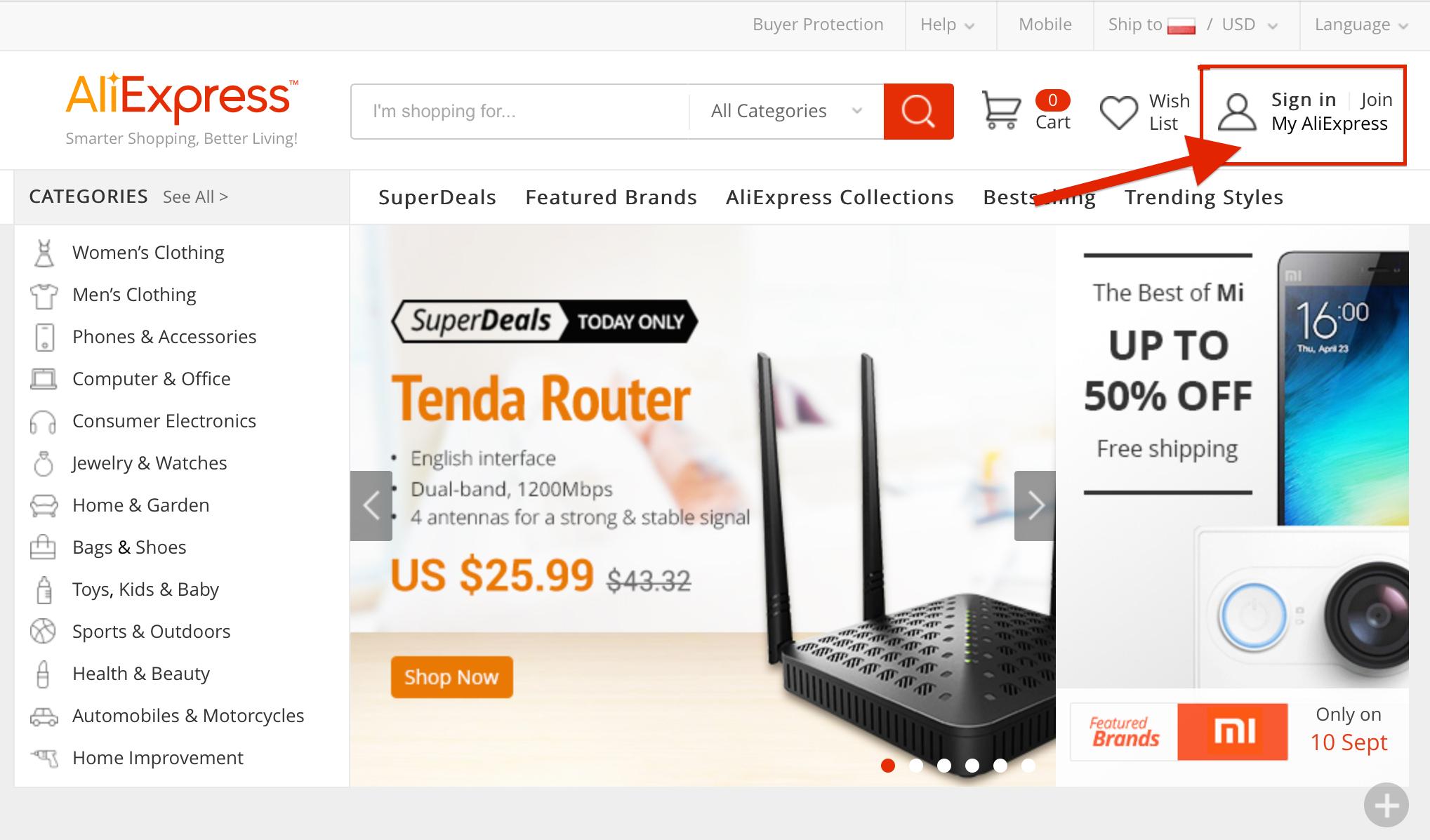Zakupy z Chin: Jak kupować przez AliExpress? Proces rejestracji, zamówienia i płatności. | Everything AliExpress Blog