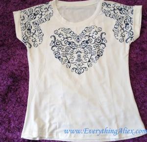 RECENZJA – Piękny Damski T-shirt z Aplikacją w Kształcie Serca z AliExpress – Everything AliExpress Blog Polska