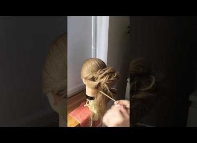 Fryzura na imprezę - hairstyle for party!