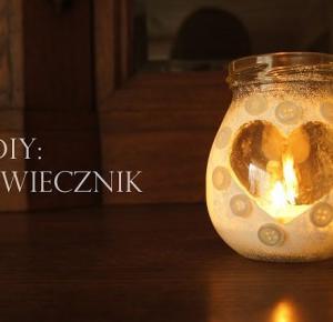 Szafirek: DIY: Świecznik