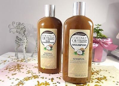 acne skin: Diagnosis » GlySkinCare » szampon i odżywka z olejem kokosowym, kolagenem, keratyną