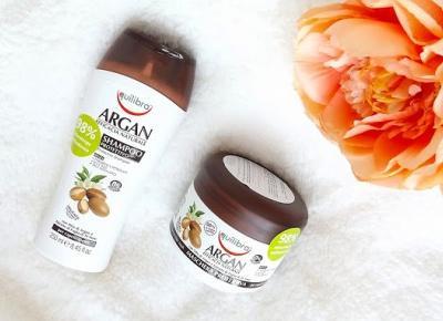 acne skin: Equilibra » Linia Naturale Argan » ochronny szampon i maska