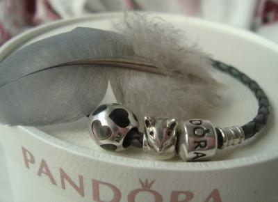 Ewushia: Modułowa, rzemykowa Pandora - Grey leather Pandora bracelet