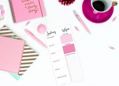 Week planner do pobrania – zaplanuj swój tydzień!