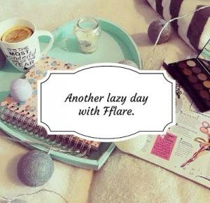 Flare - beauty and me.: Another lazy day with Fflare.