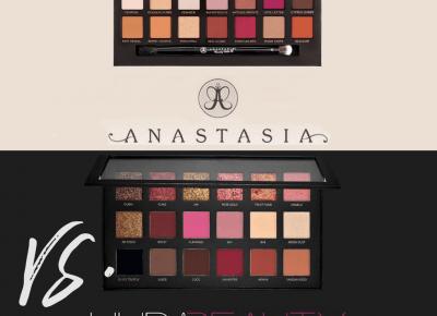 Modern Renaissance vs. Rose Gold Palette: Huda Beauty vs Anastasia Beverly Hills.   Kayleen beauty!