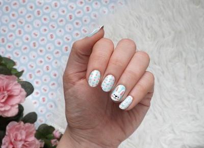 FIXATION.PL: Wielkanocny manicure - uśmiechnięte zające | Tutorial krok po kroku