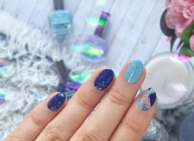 FIXATION.PL: Festiwalowe paznokcie z Golden Rose | Negative space, broken glass, srebrne tasiemki