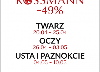 FIXATION.PL: Rossmann -49% | Promocja na kosmetyki do makijażu twarzy, oczu, ust i paznokci | Moja lista zakupów