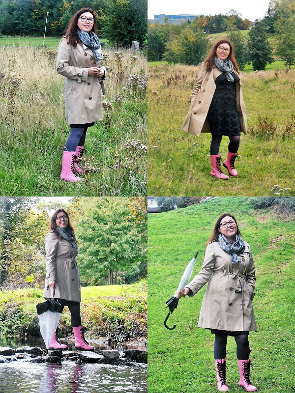 Forties Style : Kalosze Dr Martens i trencz/ Dr Martens Wellingtons and trench coat...