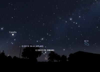 Kometa SWAN widoczna nad Polską - gdzie jej szukać?